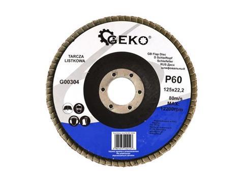 Geko lamellás legyező csiszoló korong 125 mm P60 G00304
