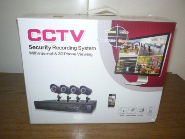CCTV HD biztonsági kamera megfigyelő rendszer 4db kamerával CCTVHD4KAM