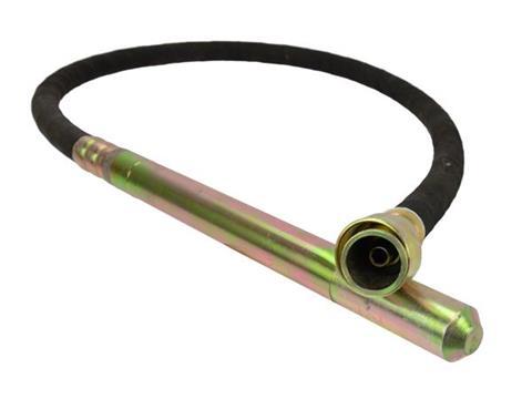 Betonvibrátor tömlő cső rázófej flexibilis szár 38mm X 4m G80246