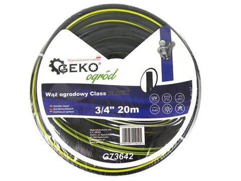 """Geko locsolótömlő tömlő slag 3/4"""" 20 m fekete G73642"""