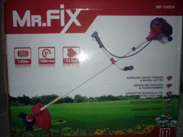 Mr.Fix benzines fűkasza bozótvágó 52 cm3 3LE MF-1600A