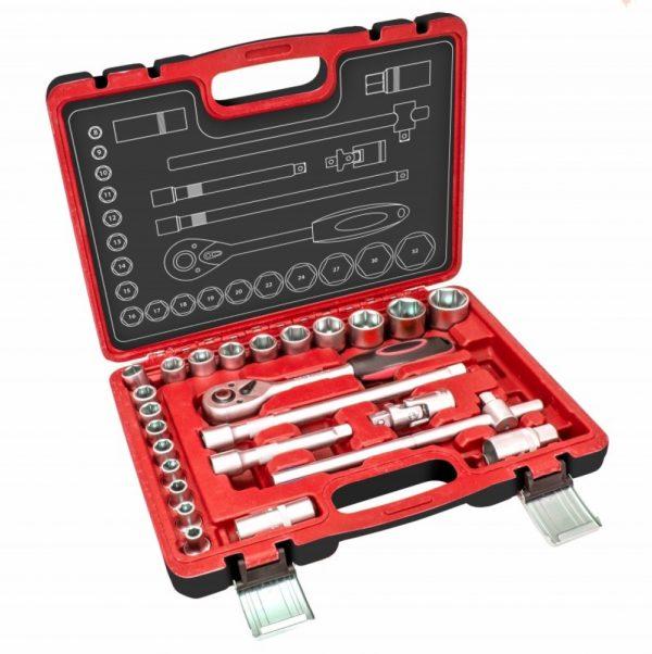 Dedra dugókulcs készlet 25 részes 8-32 mm 12 krova 17K025