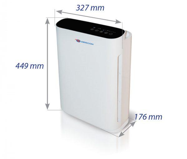 Descon légtisztító lég tisztít levegő tisztító 55W 30m2 DA-P055
