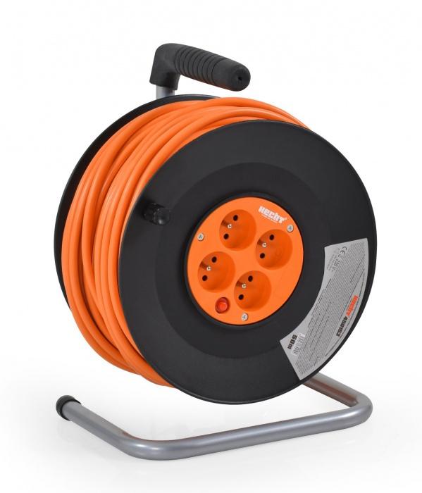 Hecht 430153 Hosszabbító dobbal és 4 aljzattal 30m villanyvezeték