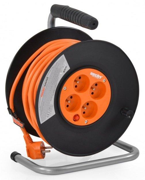 Hecht 420153 Hosszabbító villanyvezeték kábeldobbal 20m