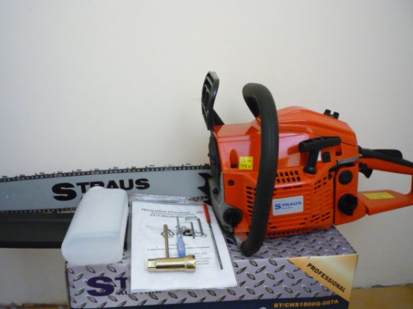 Straus Austria benzinmotoros láncfűrész benzines láncfűrész 45cm3 45 cm ST/CHS1800G-017A