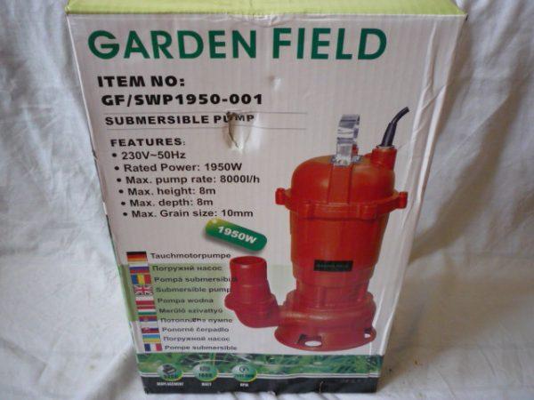 Garden field szivattyú szennyvízszivattyú 1950 W darálós