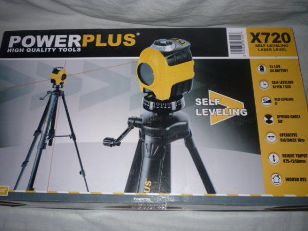 Power Plus szintező lézer lézeres lézerszintező keresztvonal szintezőlézer POWX720