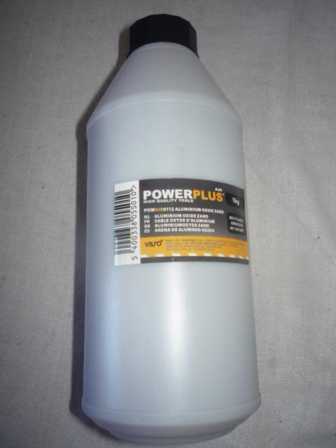 Power Plus aluminium-oxid homokszóró pisztolyba 1kg POWAIR0112