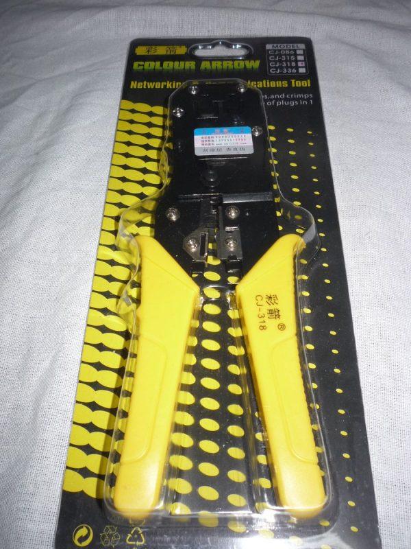 Hálózati krimpelő fogó RJ11 RJ45 6P 8P