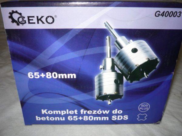 Geko SDS plus Koronafúró készlet 65 és 80mm 2db-os dobozfúró G40003