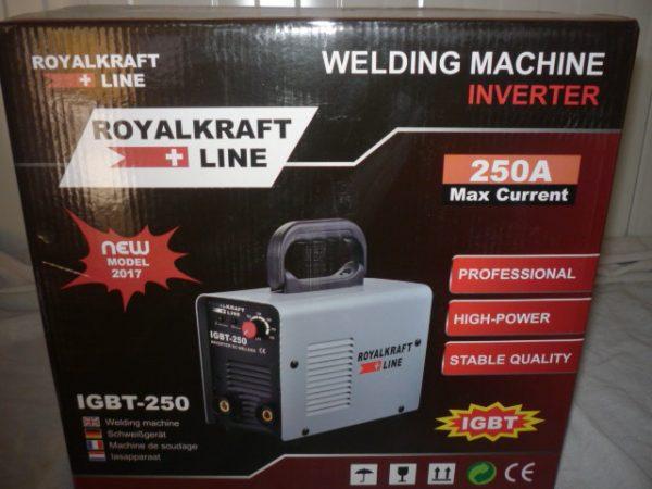 Royal Kraft Hegesztőinverter inverteres hegesztő inverter 250A IGBT-250