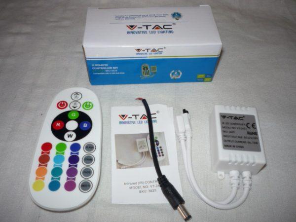 V-TAC Infra vezérlőkapcsoló távirányítóval 24 gomb VT-2472 3625