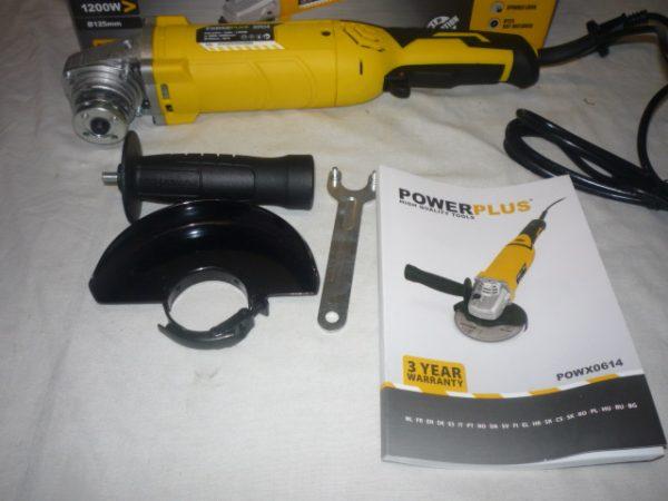 Power Plus sarokcsiszoló sarok csiszoló flex fordulatszámszabályzós 1200 W 125mm POWX0614