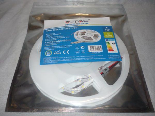 V-TAC SMD3528 LED szalag 5m 60ledm 2041 4000K természetes fehér