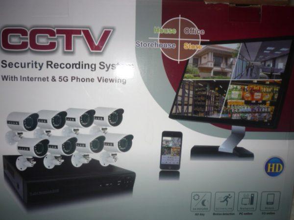 CCTV biztonsági kamera megfigyelő rendszer 8db kamerával HD CCTVHD8CAM