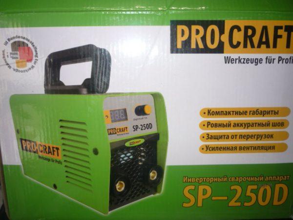 Pro-Craft Hegesztőinverter inverteres hegesztő inverter 250A SP-250D