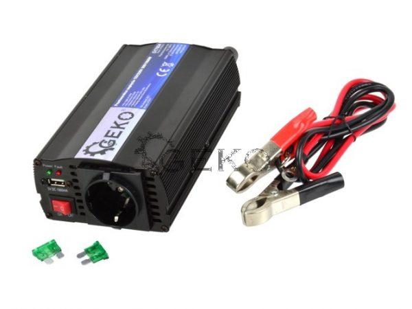 Geko feszültségátalakító inverter 12V  230V 500W 1000W pill. G17004