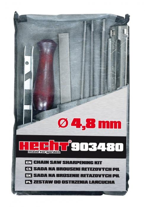 Hecht 903480 kézi láncélező szett lánc élező sablon 4,8 mm