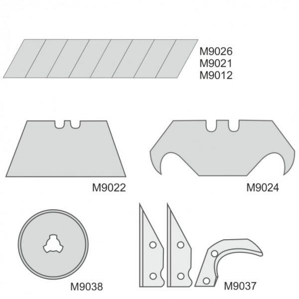 Dedra Tartalék pengék 9mm, 10db M9026