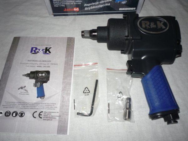 """R&K légkulcs ütvecsavarozó ütve csavarozó 1200 Nm 1/2"""" RK0001"""