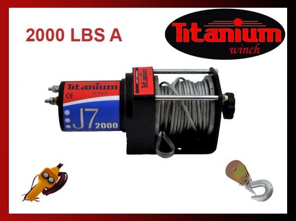 Titanium csörlő emelő 12V 2000 LBS 907 kg joy 55598