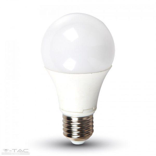V-TAC 9W LED izzó lámpa E27 A60 4000K természetes fehér 7261
