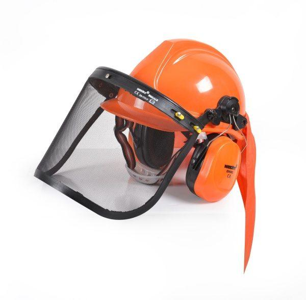 Védősisak sisak rostély arcvédő fülvédő HECHT900100
