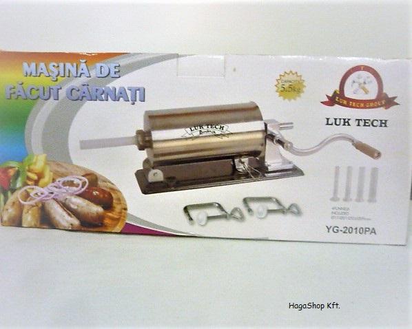 Hurkatöltő inox 5.5 Kg rozsdamentes YG-2010PA