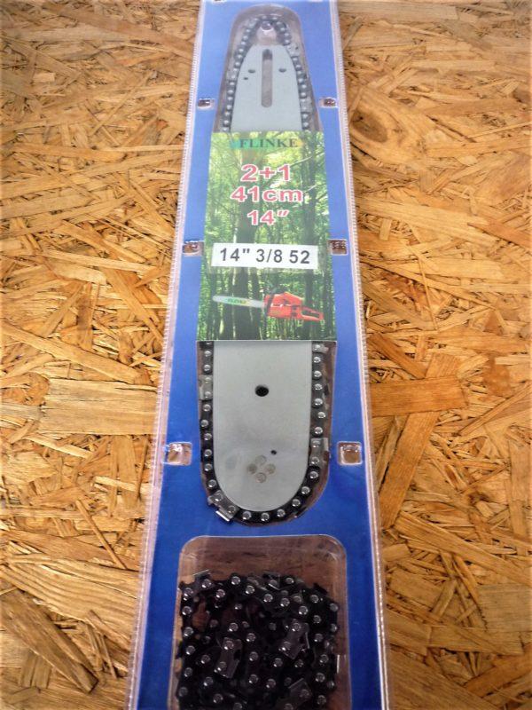 Láncfűrész láncvezető + 2 lánc 52sz 1,3 mm 3/8 521338
