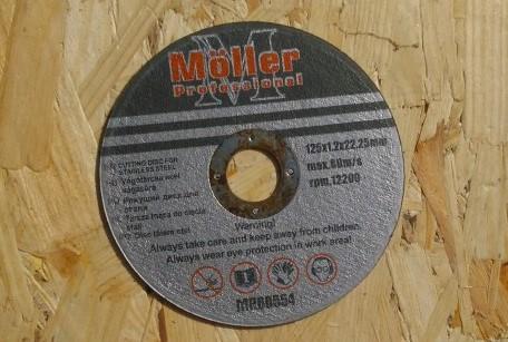 Möller vágókorong 125mx1,2mm MR60554