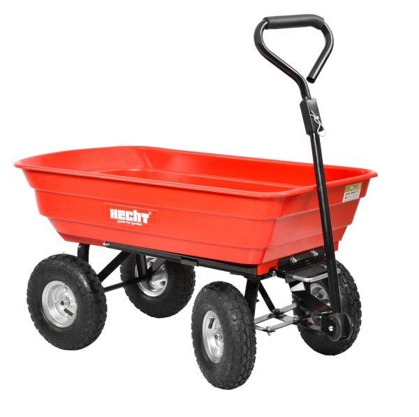HECHT 52145 fémvázas kerti szállító kocsi kiskocsi kerti talicska billentő platóval