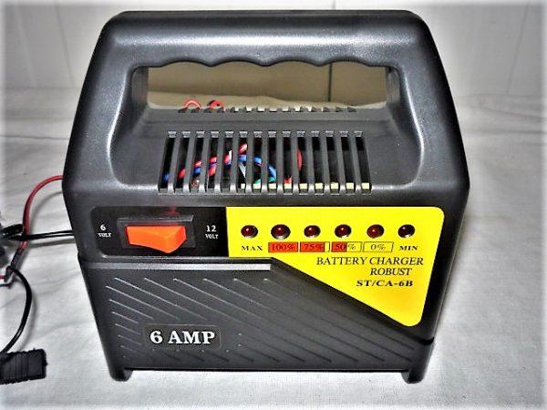 Straus akkutöltő akkumulátor töltő 6A ST/CA-6B