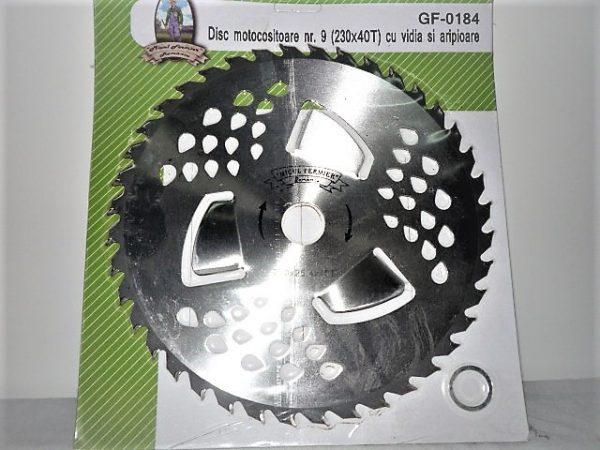 Fűkasza körfűrésztárcsa vágótárcsa vídiás 230 40 fogas GF-0184