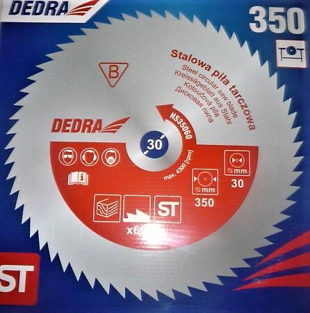 Dedra univerzális acél körfűrészlap körfűrész lap vágótárcsa 350×30 60 fogas HS35060