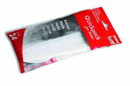 Egyszer  használatos  kés,  fehér  –  24  db Q060