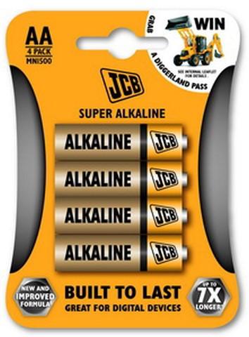 JCB SUPER alkáli elem ceruza elem AA / LR06 4 db/csomag JCB-LR06-4B