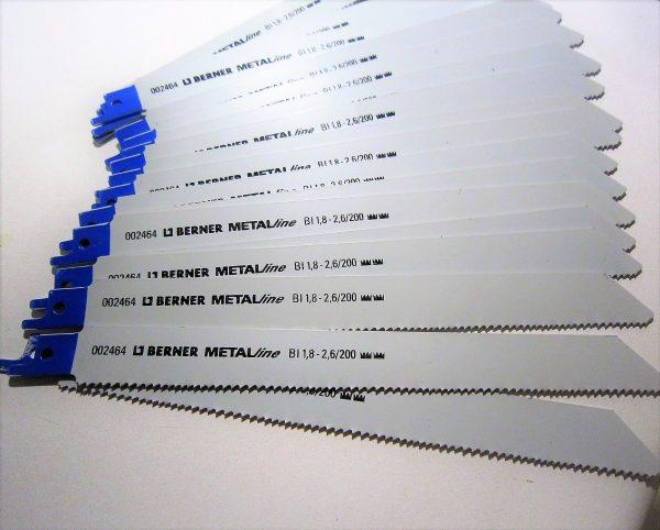 Berner orrfűrészlap fűrészlap orr fűrész lap 5DB fém 200mm 002464