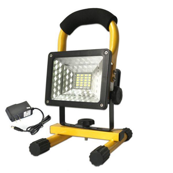 Kültéri akkumulátoros LED reflektor 30W hordozható rendőrségi villogóval LFL30W