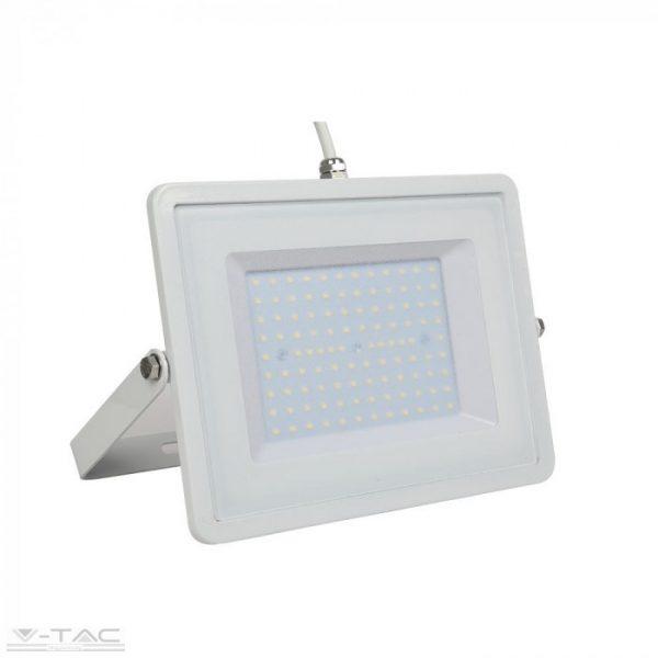 V-TAC kültéri LED reflektor lámpa fehér 100W 6400K 5972 hideg fehér