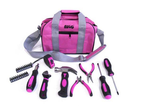 Szerszámkészlet  nőknek szerszám készlet 28  db-os  +  hordozható  táska LADYBAG