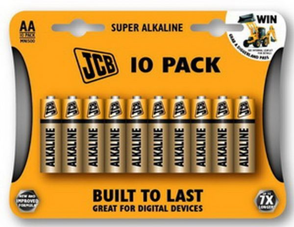JCB SUPER alkáli elem ceruza elem AA / LR06 10 db/csomag JCB-LR06-10B