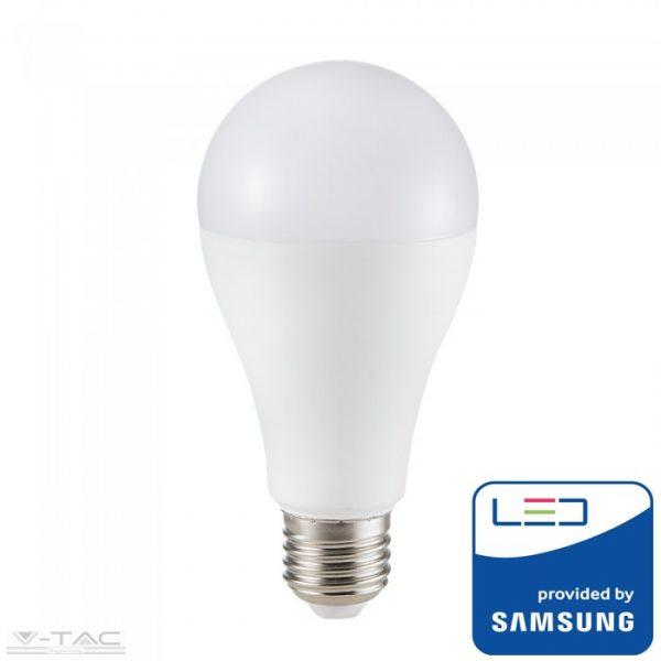 V-TAC 15W LED IZZÓ SAMSUNG CHIP E27 A65 4000K 5 ÉV GARANCIA PRO160