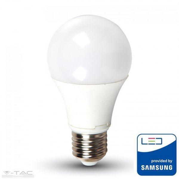 V-TAC 9W LED IZZÓ SAMSUNG CHIP E27 A60 3000K 5 ÉV GARANCIA PRO228