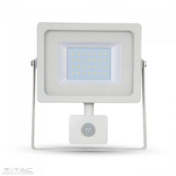 V-TAC 30W kültéri LED Mozgásérzékelős reflektor fehér 6400K 5824