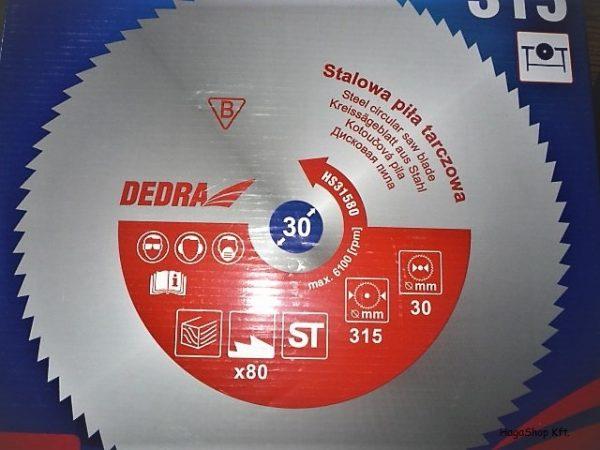 Dedra univerzális  acél  körfűrészlap vágótárcsa körfűrésztárcsa 315x80x30 80 fogas HS31580