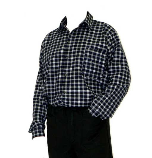 Flanel ing fekete/szürke – méret 38 0205-38