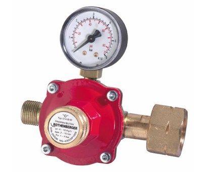 Rothenberger Pb nyomáscsökkentő gáz nyomásszabályzó reduktor nyomásmérő órával 032100E
