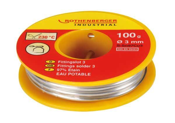 Rothenberger – forrasztó tekercs S-Sn97Cu3 100g 045256E