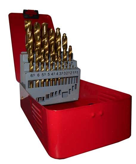 Fúró készlet HSS (25 db/1,0-13mm) TiN 070005